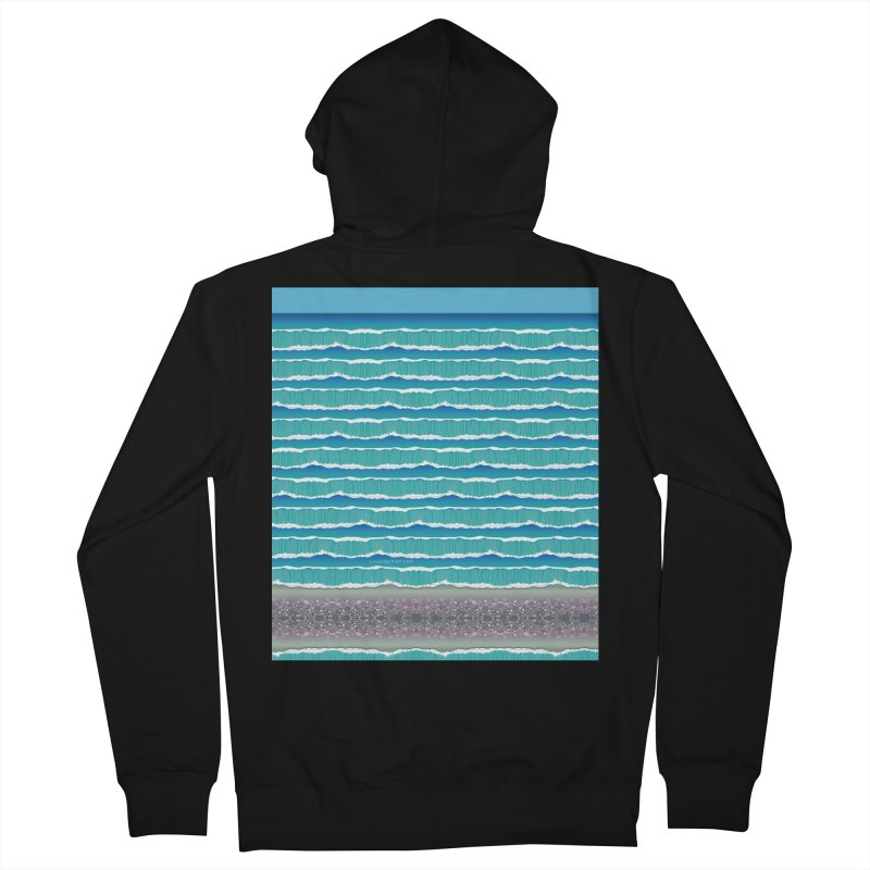 O-cean Women's French Terry Zip-Up Hoody by liuyingchieh's Artist Shop
