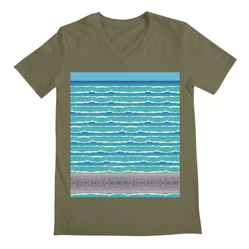 O-cean Men's V-Neck by liuyingchieh's Artist Shop