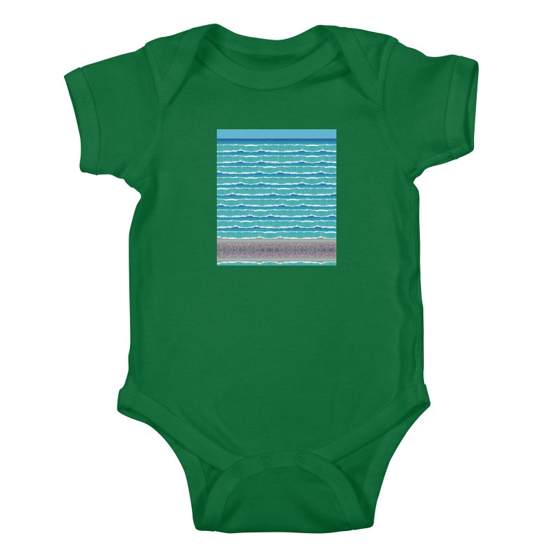 O-cean Kids Baby Bodysuit by liuyingchieh's Artist Shop