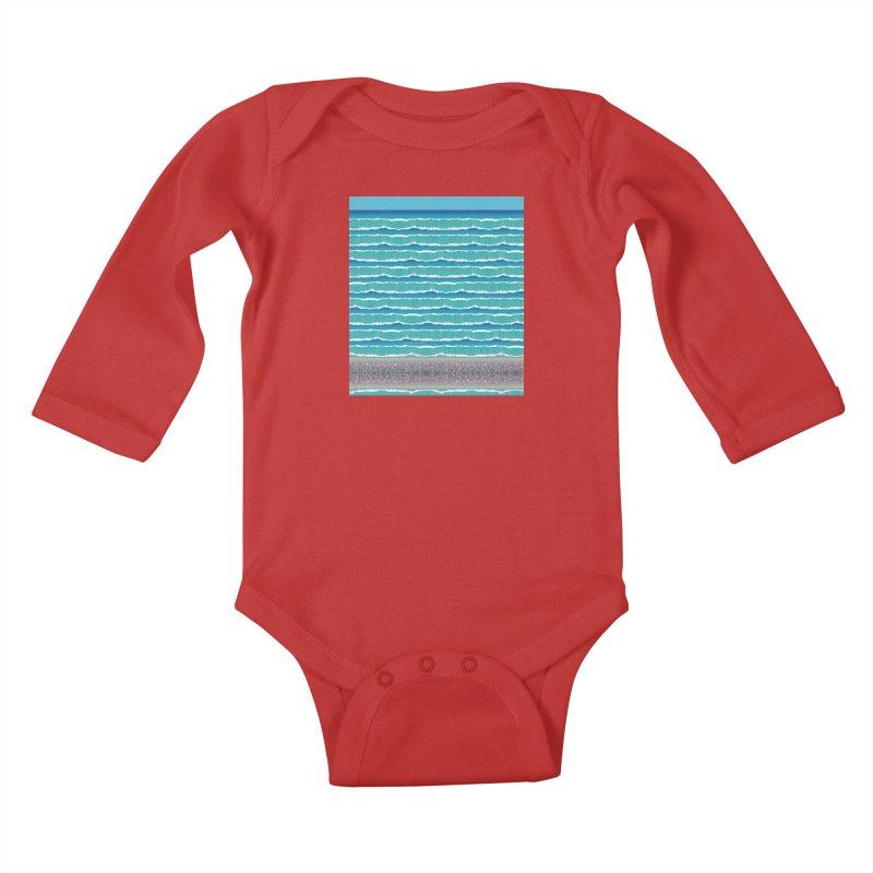 O-cean Kids Baby Longsleeve Bodysuit by liuyingchieh's Artist Shop