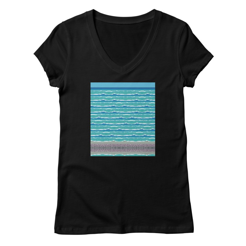 O-cean Women's V-Neck by liuyingchieh's Artist Shop