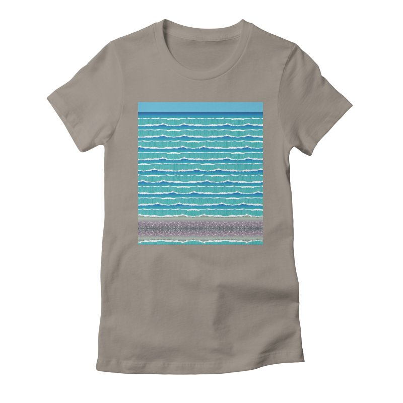 O-cean Women's Fitted T-Shirt by liuyingchieh's Artist Shop