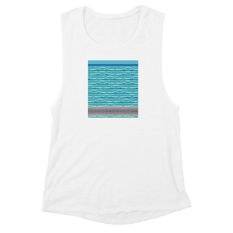 O-cean Women's Muscle Tank by liuyingchieh's Artist Shop