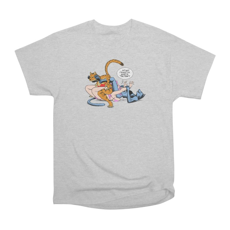 Tag Team Catfight Men's T-Shirt by Live Nude Ghouls Artist Shop