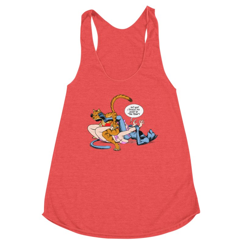 Tag Team Catfight Women's Tank by Live Nude Ghouls Artist Shop
