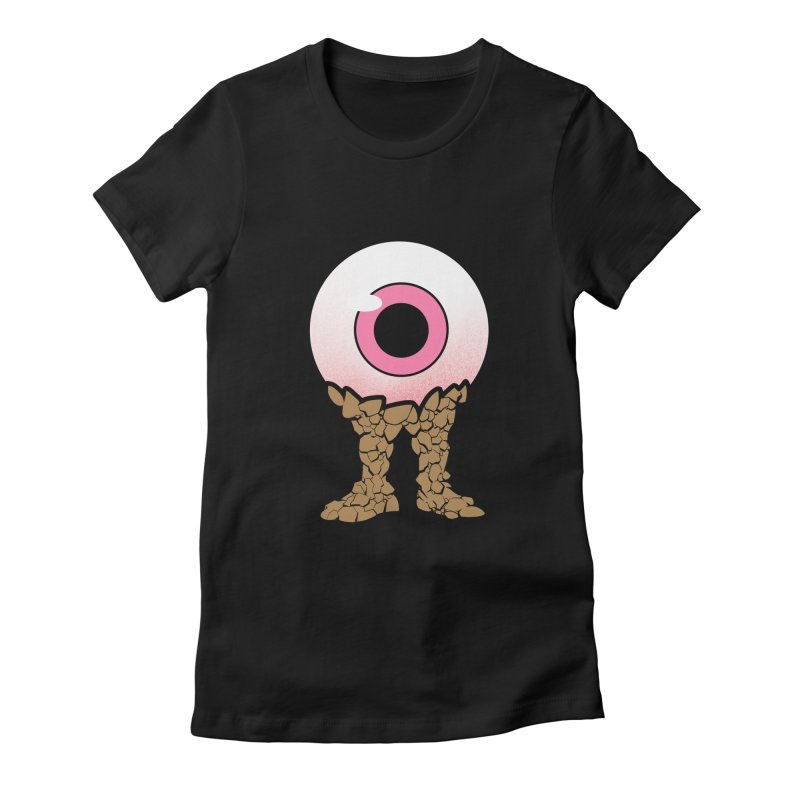 PinkEyeGuy Women's Fitted T-Shirt by Live Nude Ghouls Artist Shop