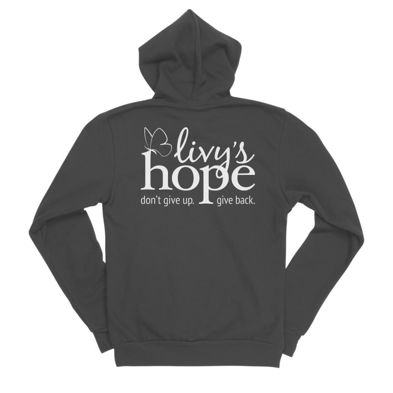 Livy's Hope in White Men's Sponge Fleece Zip-Up Hoody by Livy's Hope Shop