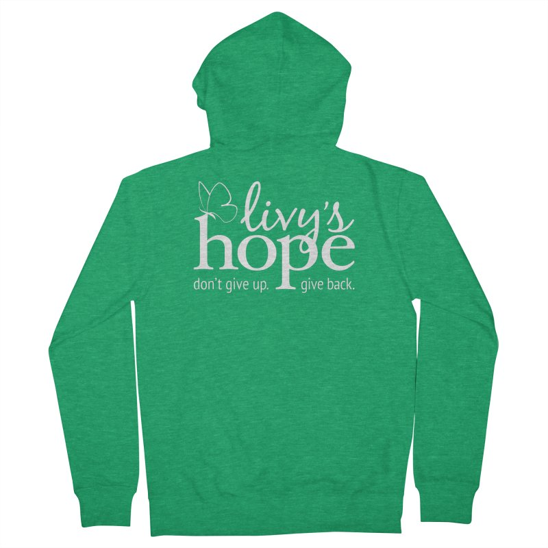 Livy's Hope in White Women's Zip-Up Hoody by Livy's Hope Shop