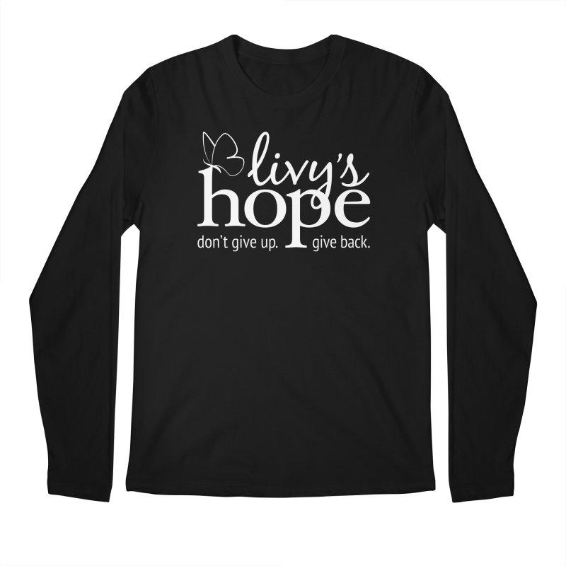 Livy's Hope in White Men's Regular Longsleeve T-Shirt by Livy's Hope Shop