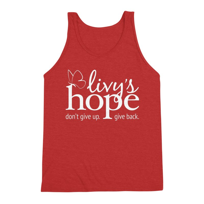 Livy's Hope in White Men's Triblend Tank by Livy's Hope Shop
