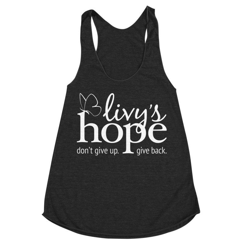 Livy's Hope in White Women's Racerback Triblend Tank by Livy's Hope Shop