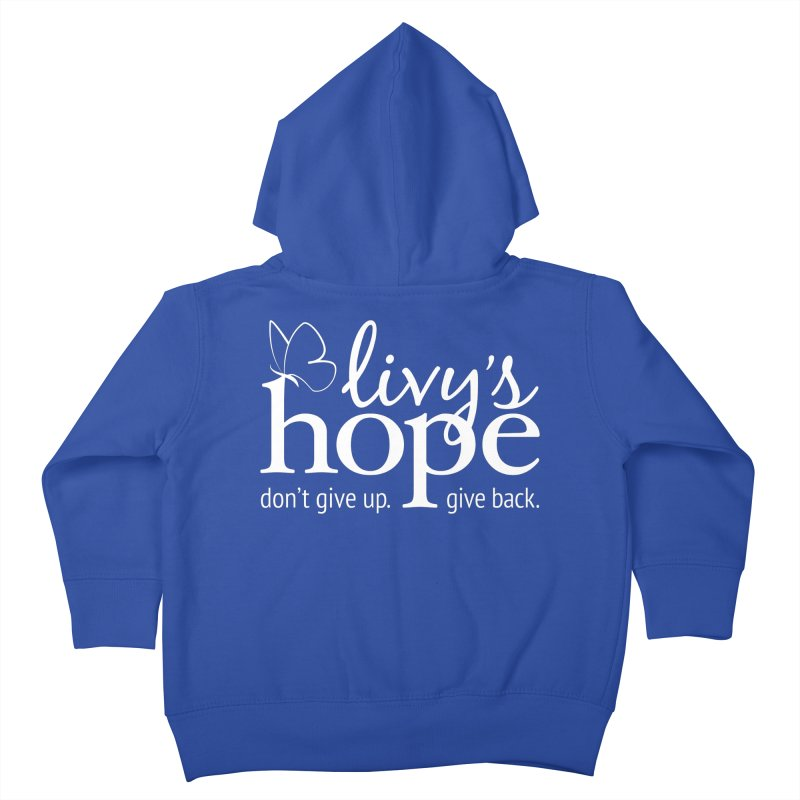 Livy's Hope in White Kids Toddler Zip-Up Hoody by Livy's Hope Shop