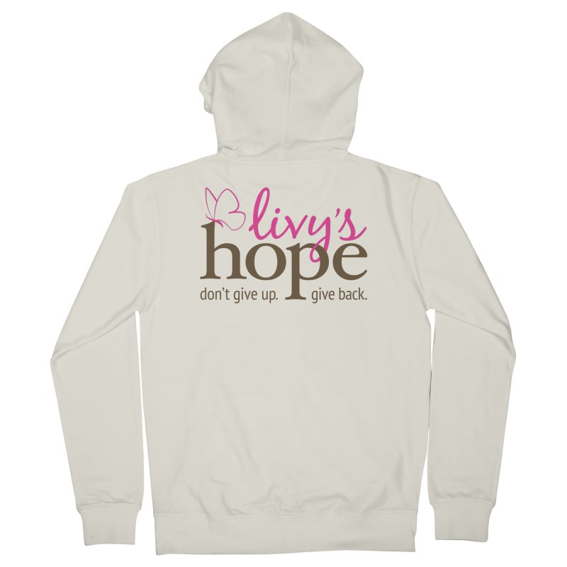 Livy's Hope in Color Women's French Terry Zip-Up Hoody by Livy's Hope Shop
