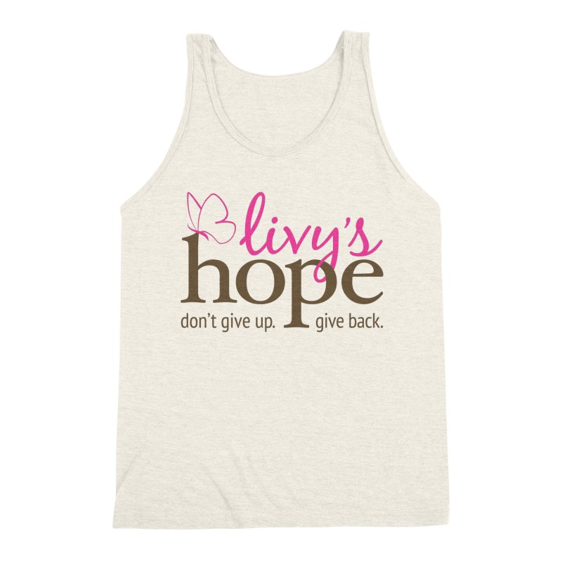 Livy's Hope in Color Men's Triblend Tank by Livy's Hope Shop