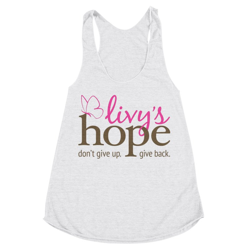 Livy's Hope in Color Women's Racerback Triblend Tank by Livy's Hope Shop