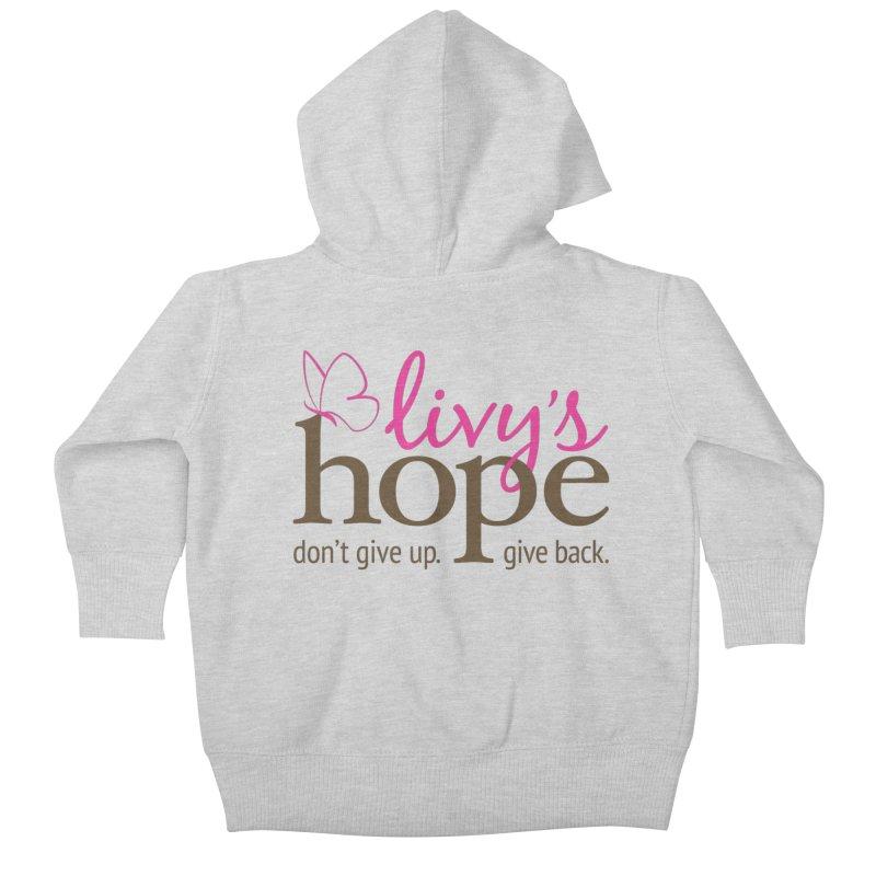 Livy's Hope in Color Kids Baby Zip-Up Hoody by Livy's Hope Shop