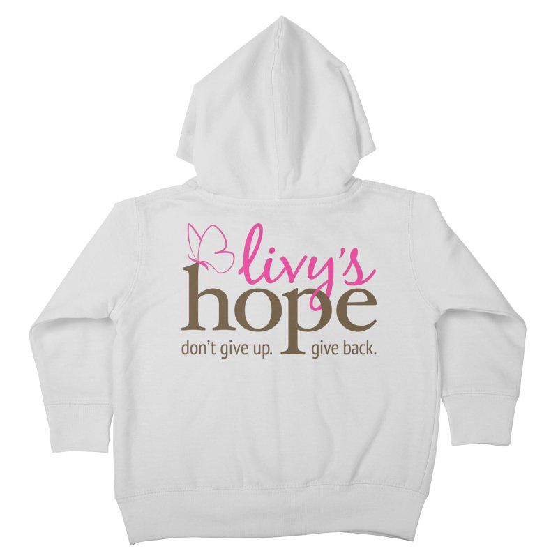 Livy's Hope in Color Kids Toddler Zip-Up Hoody by Livy's Hope Shop