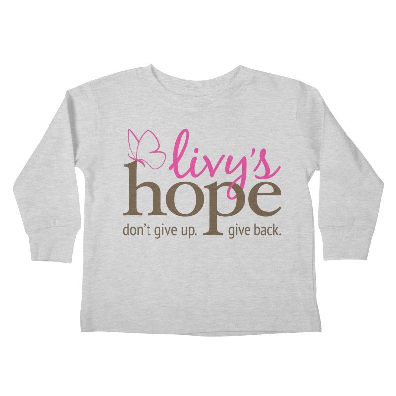 Livy's Hope in Color Kids Toddler Longsleeve T-Shirt by Livy's Hope Shop