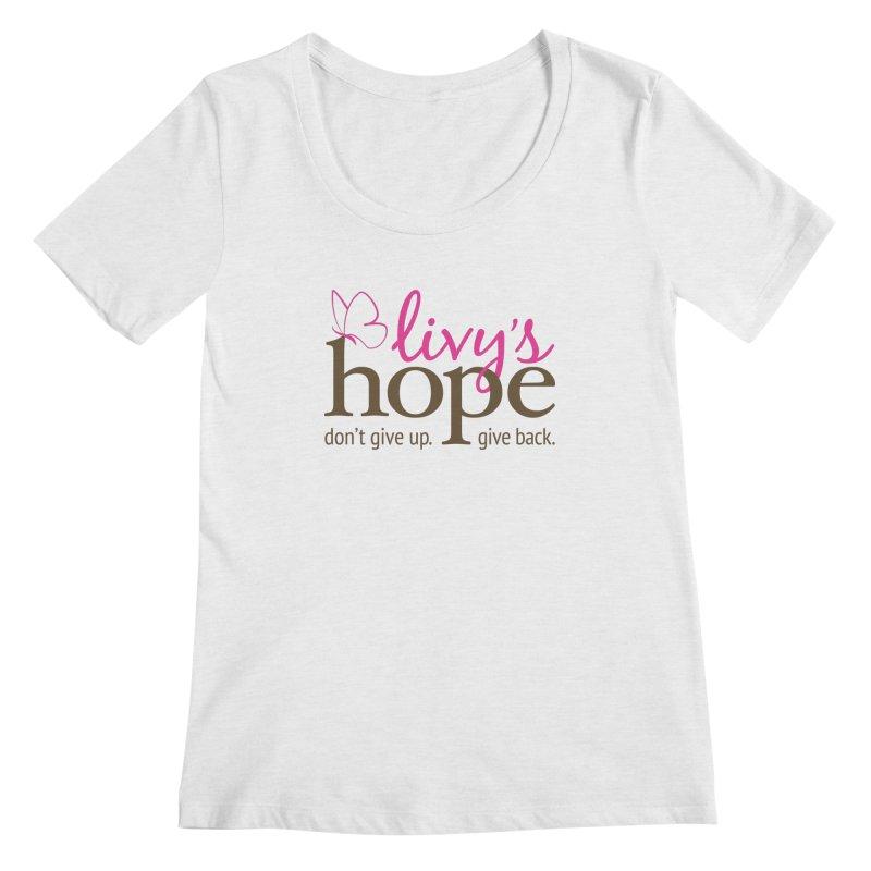 Livy's Hope in Color Women's Regular Scoop Neck by Livy's Hope Shop