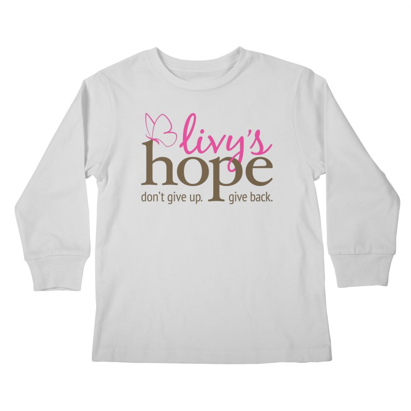 Livy's Hope in Color Kids Longsleeve T-Shirt by Livy's Hope Shop
