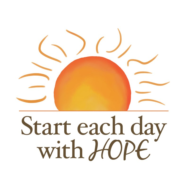 Start Each Day With Hope Home Framed Fine Art Print by Livy's Hope Shop