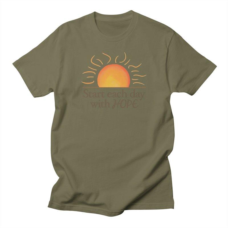 Start Each Day With Hope Women's Regular Unisex T-Shirt by Livy's Hope Shop