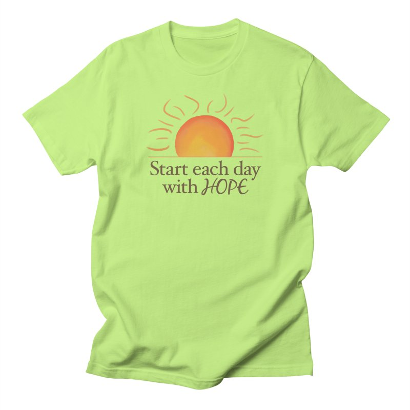 Start Each Day With Hope Men's Regular T-Shirt by Livy's Hope Shop
