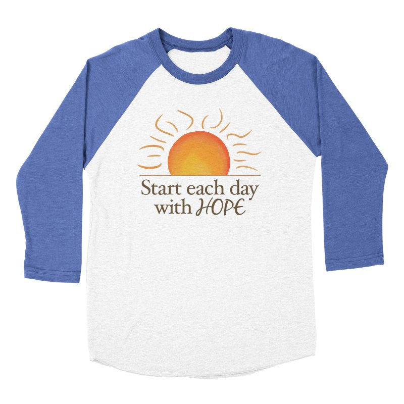 Start Each Day With Hope Men's Baseball Triblend Longsleeve T-Shirt by Livy's Hope Shop