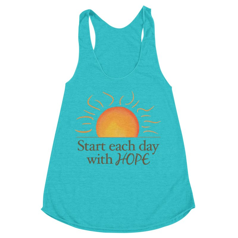 Start Each Day With Hope Women's Racerback Triblend Tank by Livy's Hope Shop