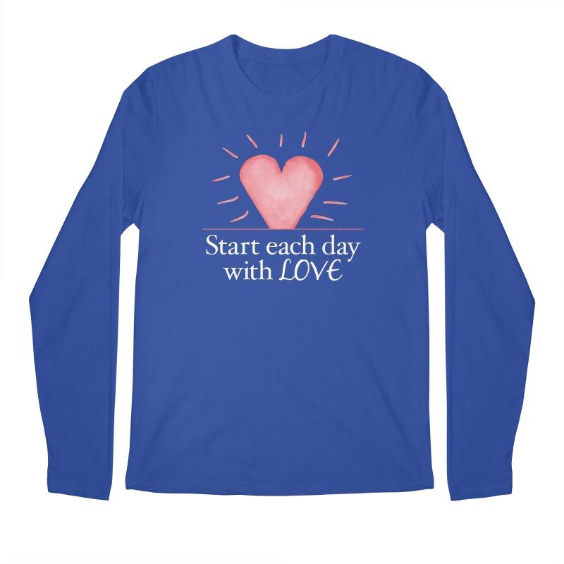 Start Each Day With Love Men's Regular Longsleeve T-Shirt by Livy's Hope Shop
