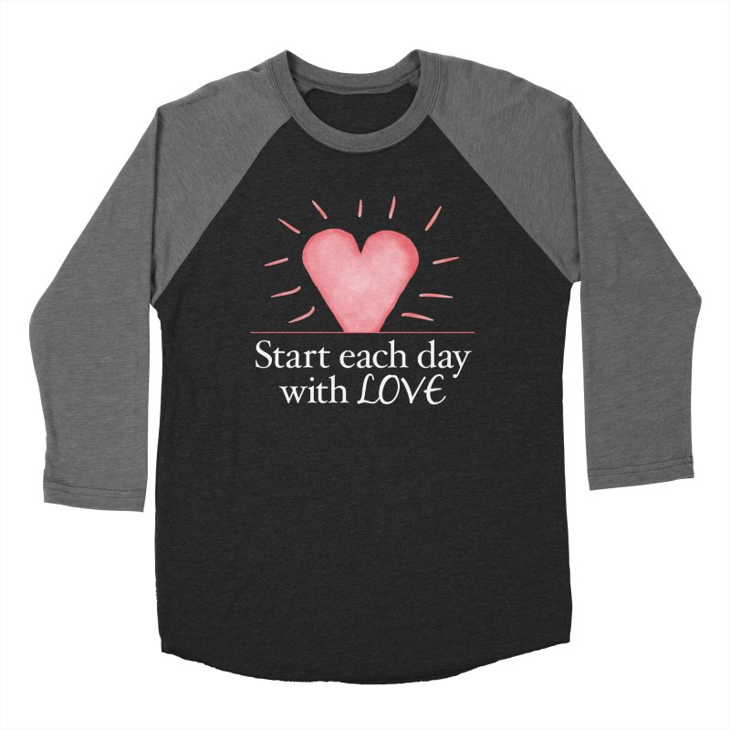 Start Each Day With Love Men's Baseball Triblend Longsleeve T-Shirt by Livy's Hope Shop