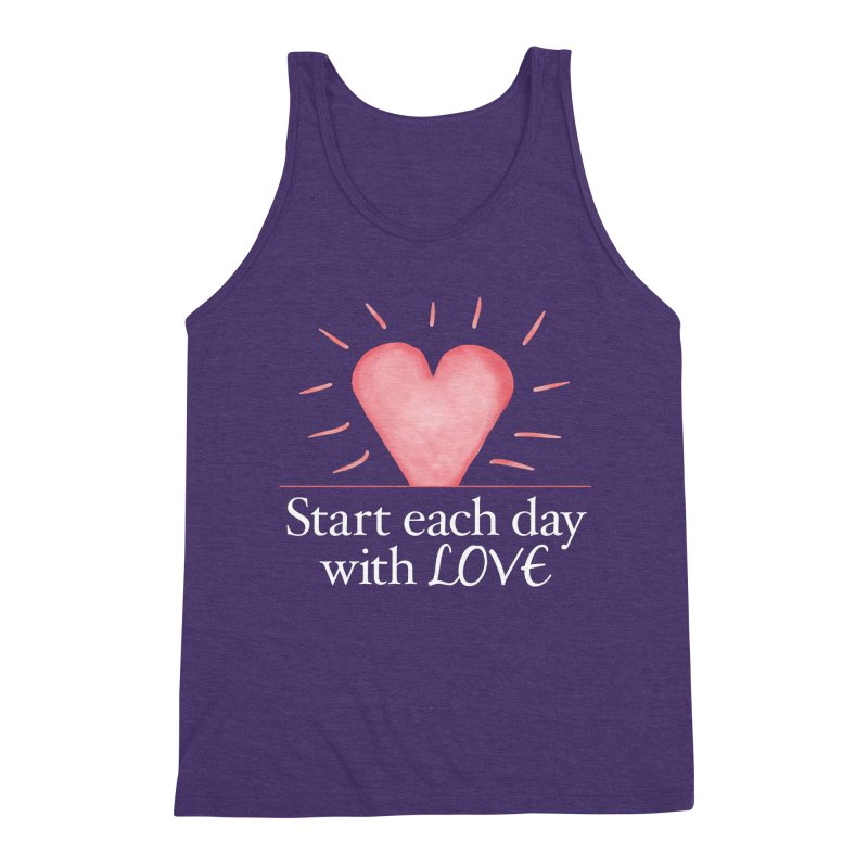 Start Each Day With Love Men's Triblend Tank by Livy's Hope Shop