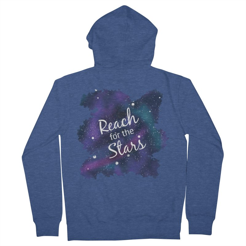 Reach for the Stars Men's French Terry Zip-Up Hoody by Livy's Hope Shop