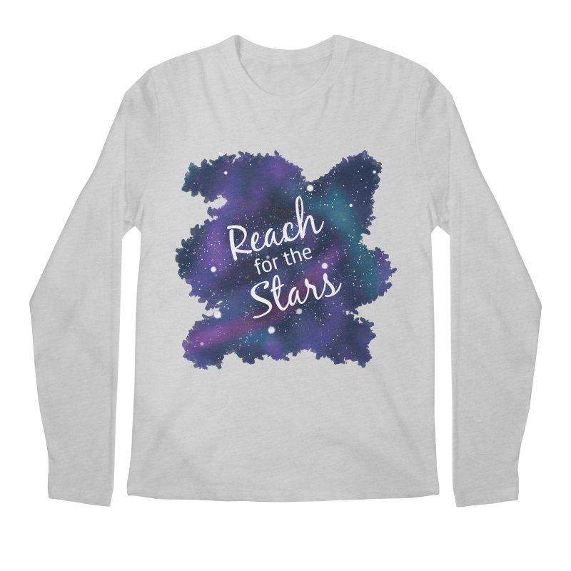Reach for the Stars Men's Regular Longsleeve T-Shirt by Livy's Hope Shop