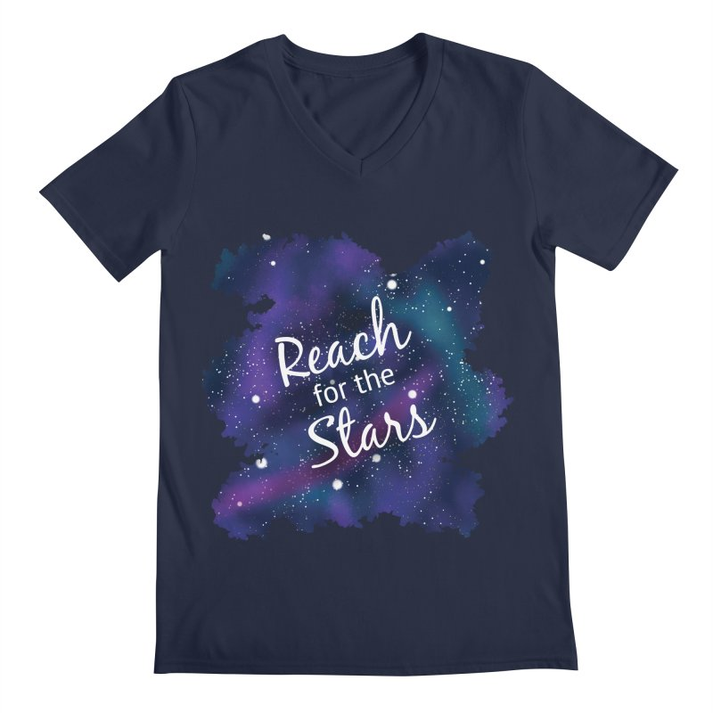 Reach for the Stars Men's Regular V-Neck by Livy's Hope Shop