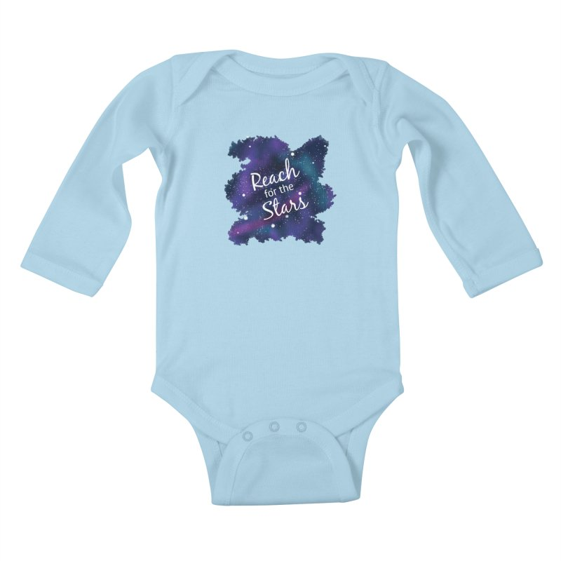Reach for the Stars Kids Baby Longsleeve Bodysuit by Livy's Hope Shop