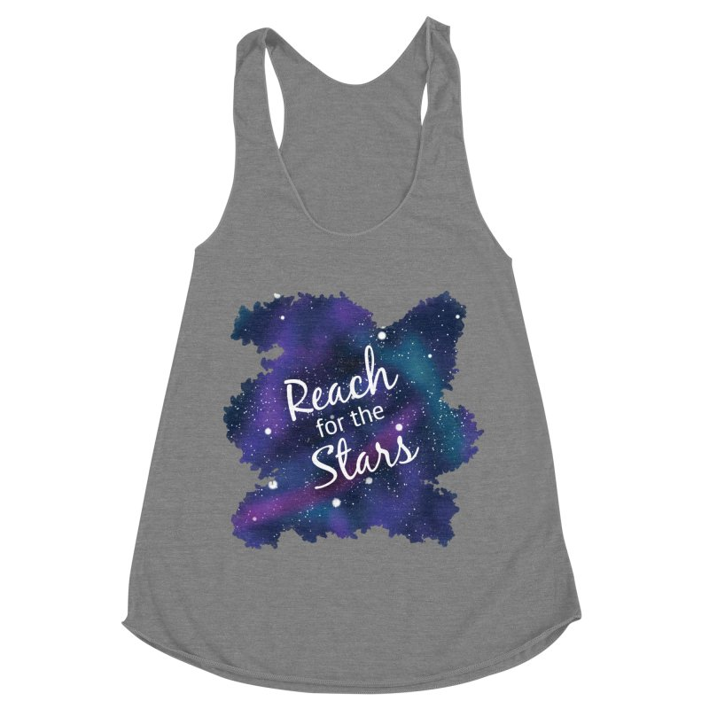 Reach for the Stars Women's Racerback Triblend Tank by Livy's Hope Shop