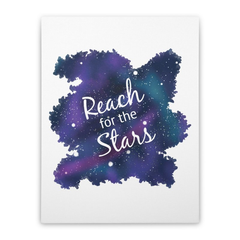 Reach for the Stars Home Stretched Canvas by Livy's Hope Shop