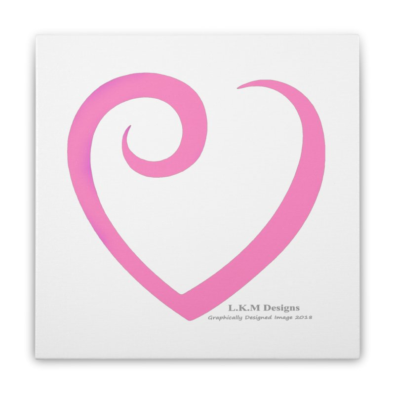 Heart Pink - Love Bedding Collection Home Stretched Canvas by lkmdesigns's Artist Shop