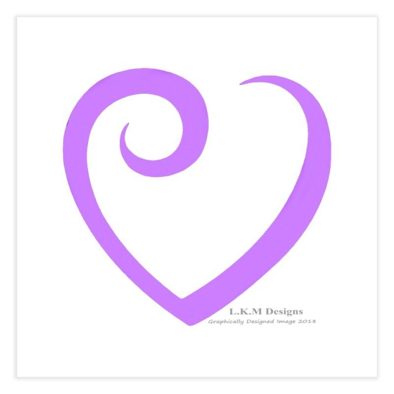 Heart Purple - Love Bedding Collection Home Fine Art Print by lkmdesigns's Artist Shop
