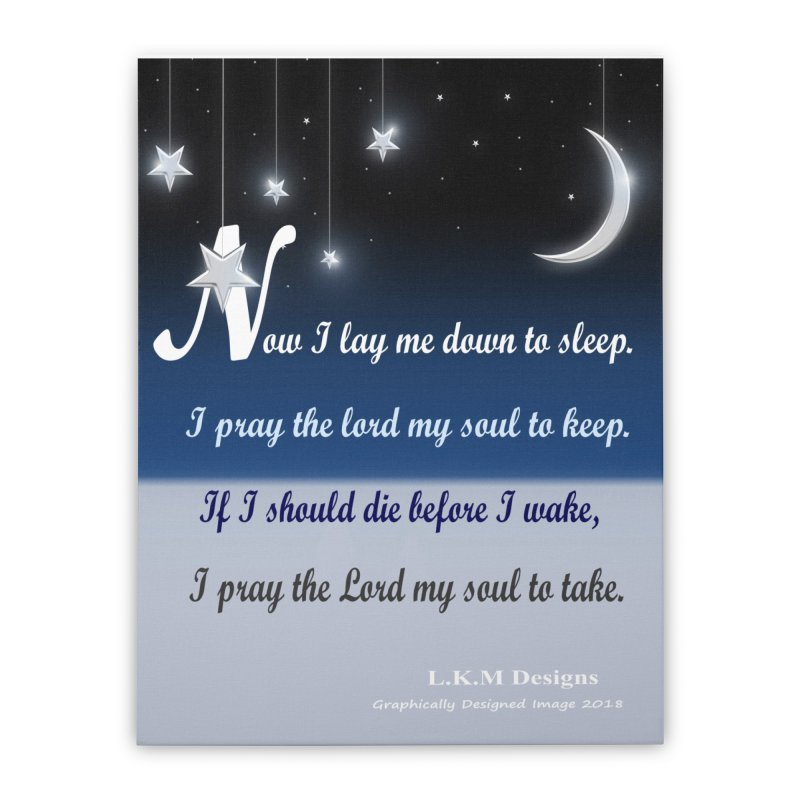 """Night - """"Lay me down to sleep"""" Bedding Collection Home Stretched Canvas by lkmdesigns's Artist Shop"""