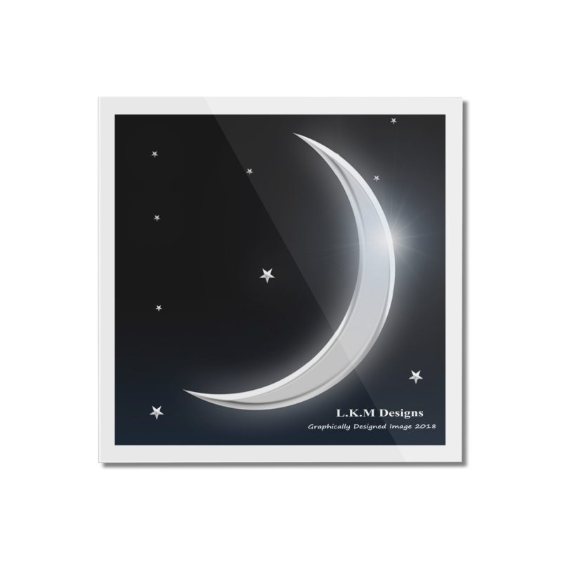"""Night - Moon- """"Lay me down to sleep"""" Bedding Collection Home Mounted Acrylic Print by lkmdesigns's Artist Shop"""