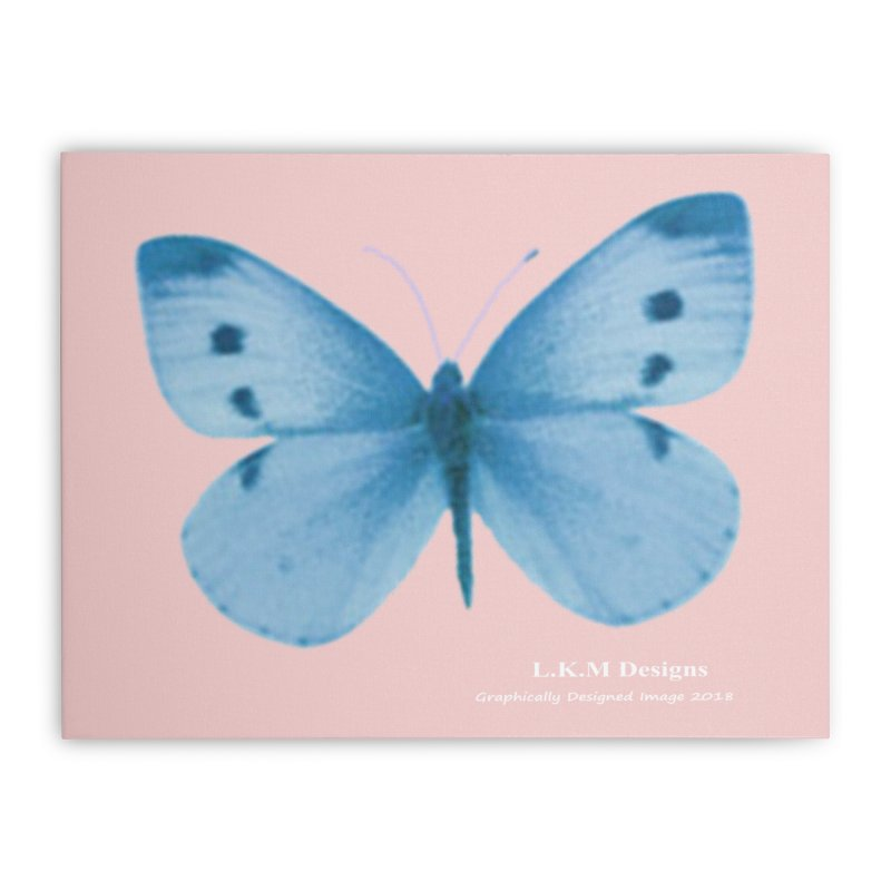 """Floral - Blue Butterfly -  """"Lay me down to sleep"""" Bedding Collection Home Stretched Canvas by lkmdesigns's Artist Shop"""
