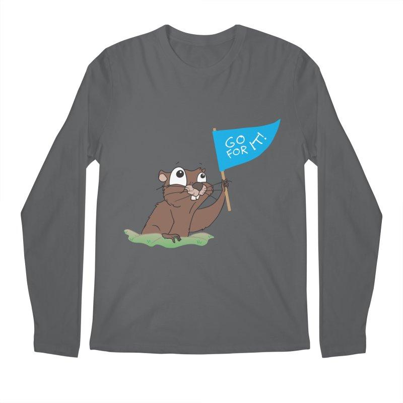 Gopher it! Men's Longsleeve T-Shirt by LLUMA Creative Design