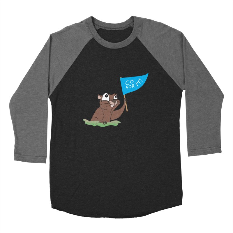 Gopher it! Women's Baseball Triblend Longsleeve T-Shirt by LLUMA Creative Design