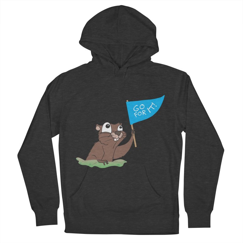 Gopher it! Men's French Terry Pullover Hoody by LLUMA Creative Design