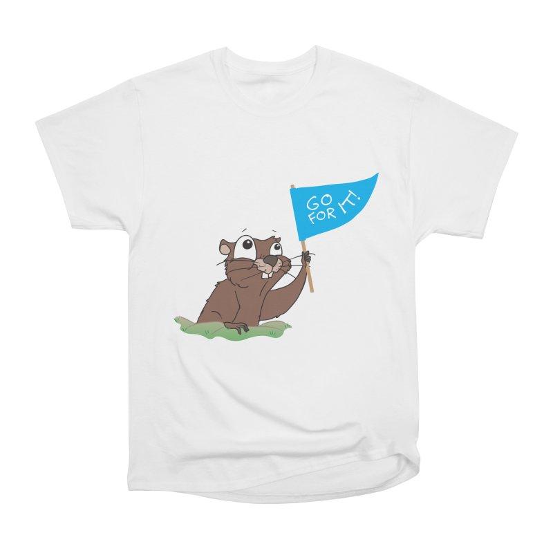 Gopher it! Men's Heavyweight T-Shirt by LLUMA Creative Design