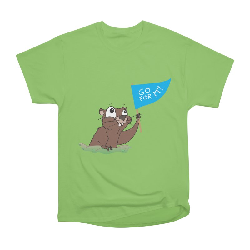 Gopher it! Women's Heavyweight Unisex T-Shirt by LLUMA Creative Design