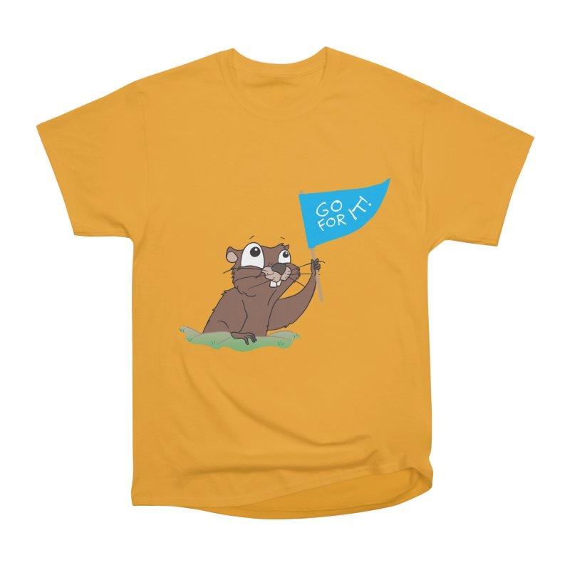 Gopher it! Women's Heavyweight Unisex T-Shirt by LLUMA Creative Design