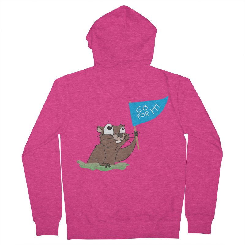 Gopher it! Women's French Terry Zip-Up Hoody by LLUMA Creative Design